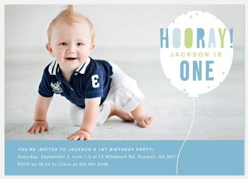 Flying Balloon Kids' Birthday Invitations