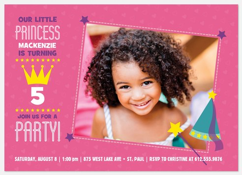 Royal Princess Kids' Birthday Invitations