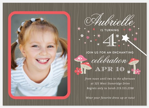 Enchanted Forest Kids' Birthday Invitations