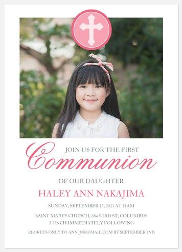 Joyful Day First Communion Invitations