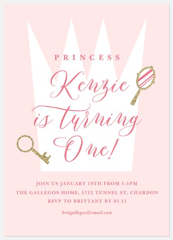 Royal Crown Kids' Birthday Invitations