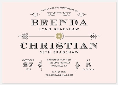 Southern Grace Anniversary Invitations