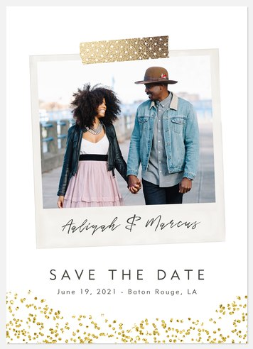 Playful Snapshot Save the Date Photo Cards