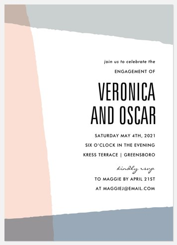Mod Angles Engagement Party Invitations