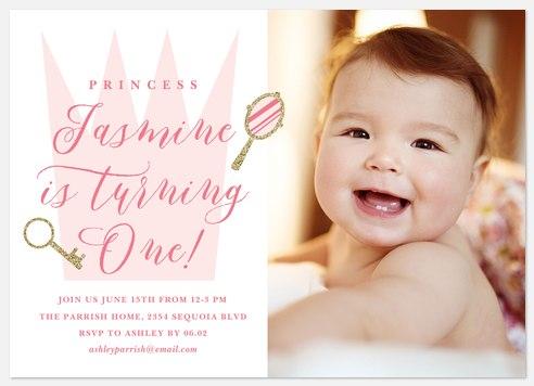Royal Crown Kids' Birthday Invitations