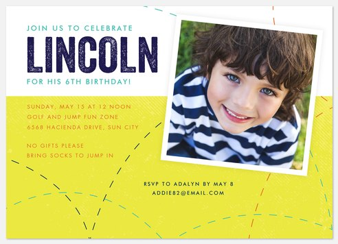 Time to Jump Kids' Birthday Invitations
