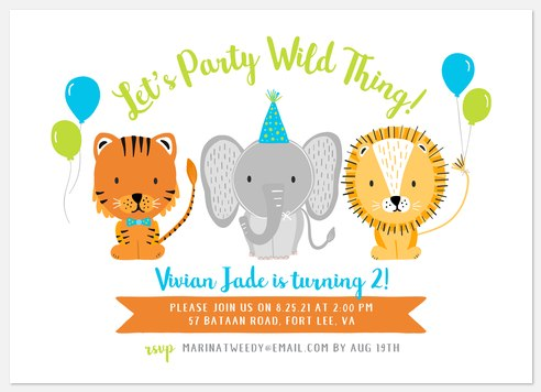Wild Things Kids' Birthday Invitations