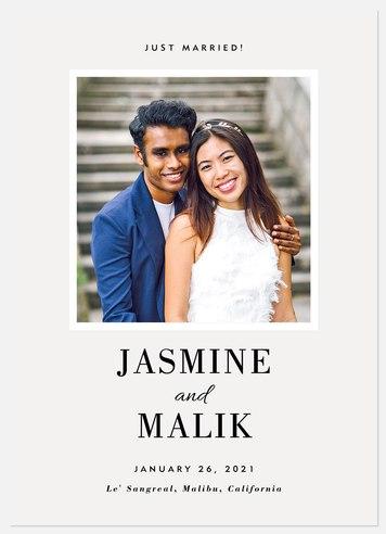 Minimalist Wedding Announcements