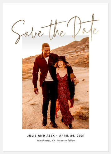 Modern Love Save the Date Photo Cards