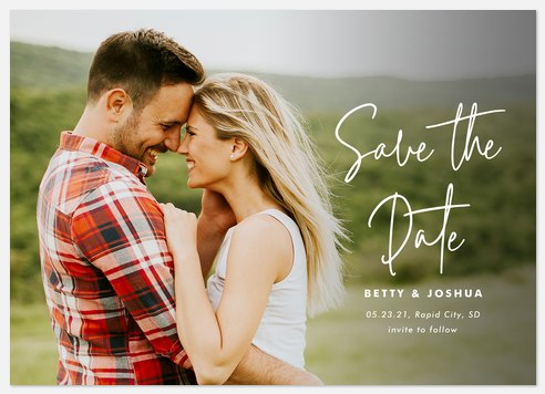Signature Side Save the Date Photo Cards