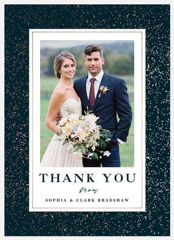 Gold Flecked Thank You Cards