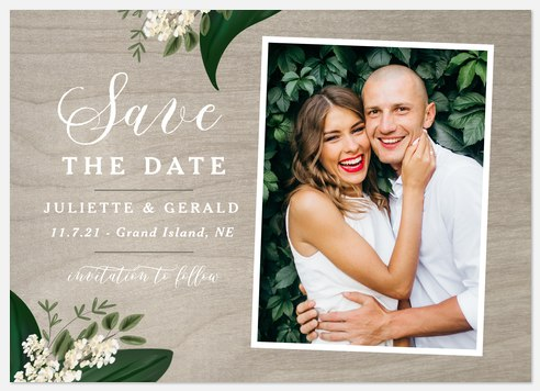 Styled Botanicals Save the Date Photo Cards
