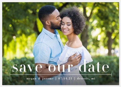 Simplified Save the Date Photo Cards