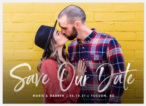 Soft Brush Save the Date Photo Cards