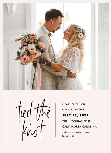 Tied the Knot Wedding Announcements