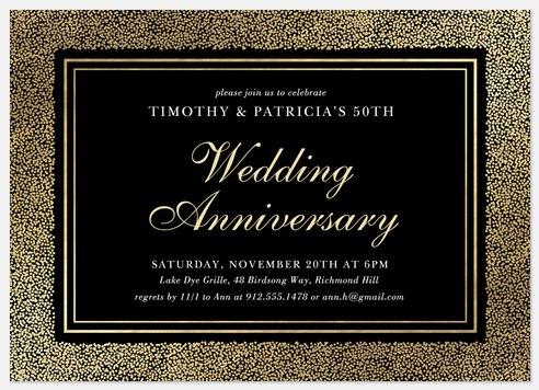 Glimmer Anniversary Invitations