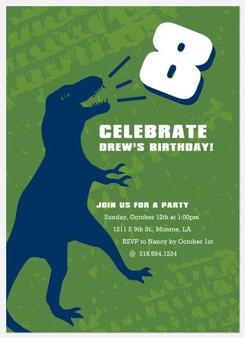 Prehistoric Kids' Birthday Invitations
