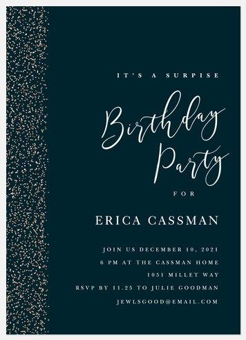 Festive Celebration Adult Birthday Invitations