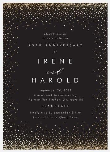 Shimmering Cascade Anniversary Invitations