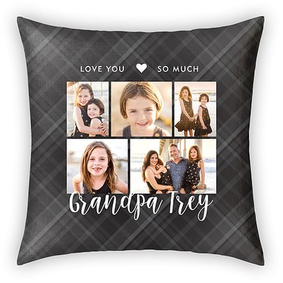 Loving Plaid Custom Pillows