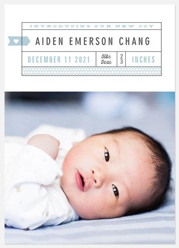 Vintage Announcement Baby Birth Announcements