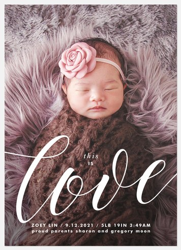 Sweetest Love Baby Birth Announcements