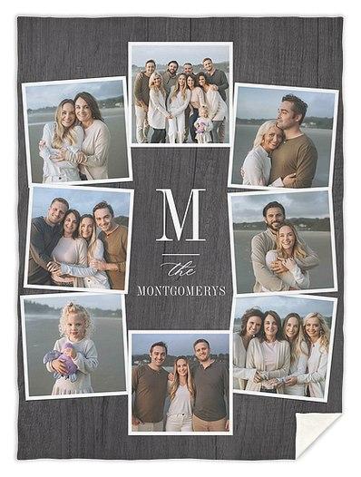 Family Initial Custom Blankets