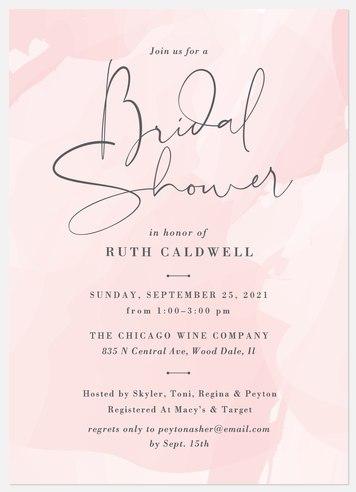Abstract Brush Bridal Shower Invitations