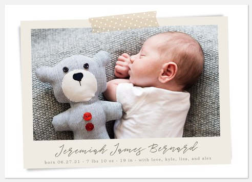 Keepsake Memory Baby Birth Announcements