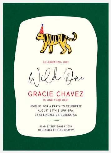 Wild Safari Kids' Birthday Invitations