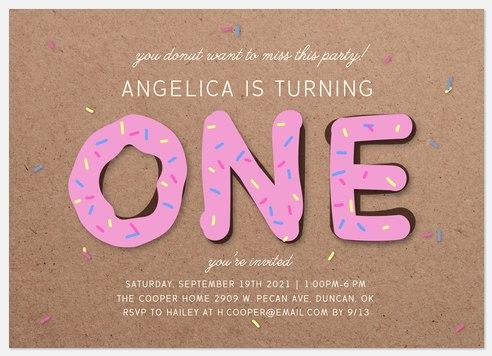 Donut Miss This Kids' Birthday Invitations
