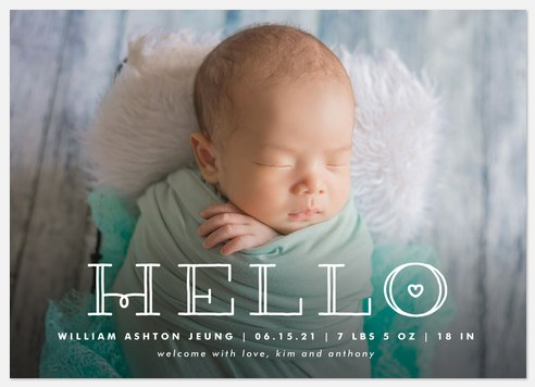 Little Beloved Baby Birth Announcements