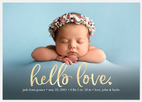 All the Love Baby Birth Announcements