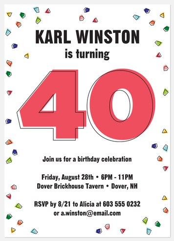 Milestone Pop Adult Birthday Invitations