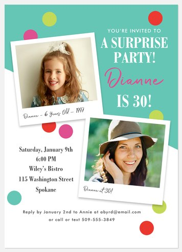 Vintage Photos Adult Birthday Invitations