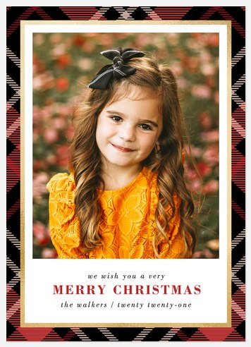 Simply Plaid Holiday Photo Cards