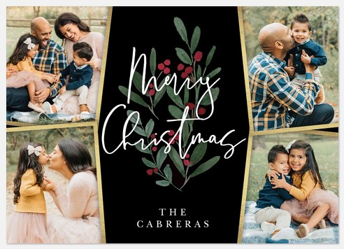 Winter Trimming Holiday Photo Cards