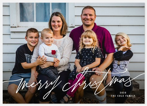 Lovely Script Holiday Photo Cards