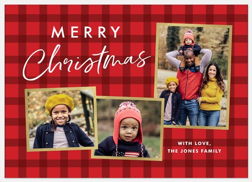 Plaid Gallery Holiday Photo Cards