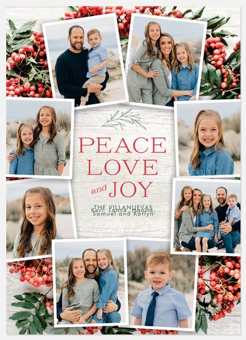 Berry Wreath Holiday Photo Cards
