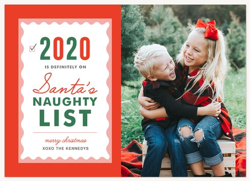 Naughty Year Photo Holiday Cards