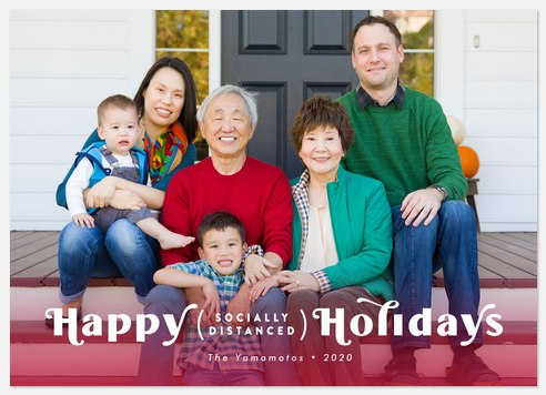 Socially Distanced Holiday Photo Cards