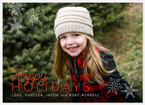 Mod Snow Holiday Photo Cards