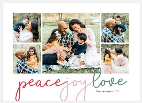 Flowing Colors Holiday Photo Cards