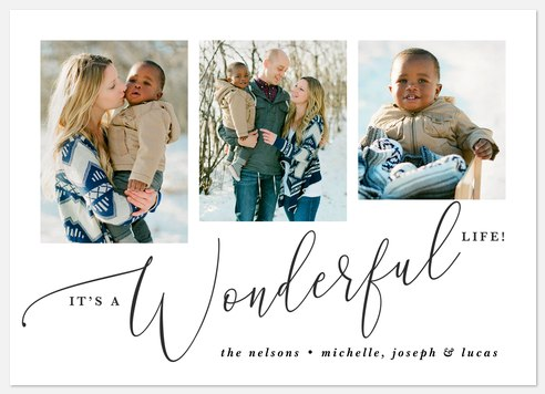 Wonderful Trio Holiday Photo Cards