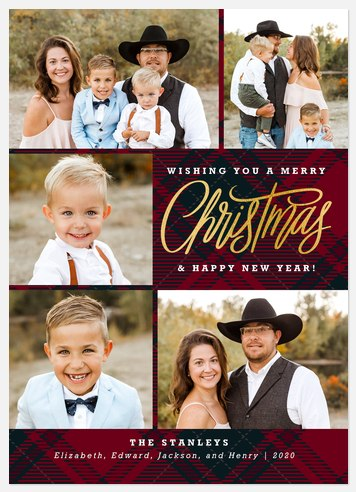 Cozy Flannel Holiday Photo Cards