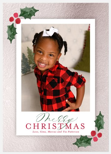 Silver Foil Holiday Photo Cards