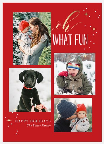 Sparkly Fun Holiday Photo Cards