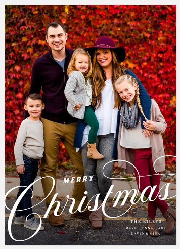 Classic Calligraphy Holiday Photo Cards