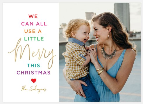 A Little Merry Holiday Photo Cards